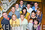 Katie Hickey who celebrated the 10th anniversary of her business Sheer Beauty with her family and friends in the Bricin restaurant Killarney on Saturday night front row l-r: Pat, Katie and Nellie Hickey, Mark Hennerbery and Miriam Hickey. Back row: Barry Hickey, Andrew Kennelly, Richard Murphy, Aideen Hickey, Martin Hennerbery, Katie Lyne, Sheena mullins and Shane Hickey..