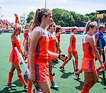 Den Bosch  -  Debutant in het grote Oranje, Felice Albers (Ned)    voor  de Pro League hockeywedstrijd dames, Nederland-Belgie (2-0).  COPYRIGHT KOEN SUYK