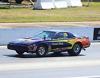 May 6, 2017; Commerce, GA, USA; NHRA stock eliminator driver Joe Tysinger during qualifying for the Southern Nationals at Atlanta Dragway. Mandatory Credit: Mark J. Rebilas-USA TODAY Sports