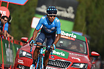 Nairo Quintana (COL) Movistar Team approaches the finish line on the final climb of Stage 19 of the La Vuelta 2018, running 154.4km from Lleida to Andorra, Naturlandia, Andorra. 14th September 2018.                   <br /> Picture: Colin Flockton | Cyclefile<br /> <br /> <br /> All photos usage must carry mandatory copyright credit (© Cyclefile | Colin Flockton)