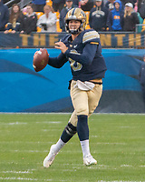Pitt quarterback Kenny Pickett. The Pitt Panthers football team defeated the Duke Blue Devils 54-45 on November 10, 2018 at Heinz Field, Pittsburgh, Pennsylvania.