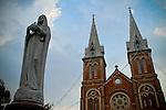 Vietnam, Ho Chi Minh City, Saigon, Architecture, Buildings, Structures, Statues