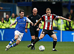 Kieran Lee of Sheffield Wednesday and Paul Coutts of Sheffield Utd during the Championship match at the Hillsborough Stadium, Sheffield. Picture date 24th September 2017. Picture credit should read: Simon Bellis/Sportimage
