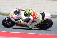 14.06.2013 Barcelona, Spain. Gran Premi Aperol de Catalunya. Free practice 2. Picture show Andrea Iannone ridding Ducati at Circuit de Catalunya