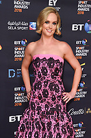Amanda Davies arriving for the BT Sport Industry Awards 2018 at the Battersea Evolution, London, UK. <br /> 26 April  2018<br /> Picture: Steve Vas/Featureflash/SilverHub 0208 004 5359 sales@silverhubmedia.com