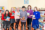 L-R Ooma Whieldon, Emma Lyne, Kathleen Rice, Leo Wheeldon, Hazel Joy and Aoibhe O'Doherty launching Children Book Festival in the Killarney Library last Tuesday.