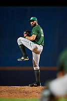 Daytona Tortugas relief pitcher Ryan Hendrix (21) delivers a pitch during a game against the St. Lucie Mets on August 3, 2018 at First Data Field in Port St. Lucie, Florida.  Daytona defeated St. Lucie 3-2.  (Mike Janes/Four Seam Images)
