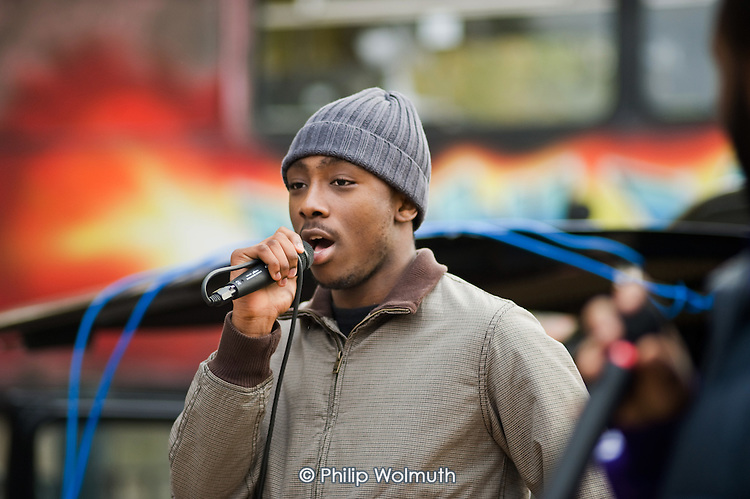 Regent's Park's Got Talent: Youth Action Day at Cumberland Market, Regent's Park Estate, Camden.