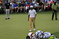 Kevin Na (USA) Thorbjorn Olesen (DEN), Jose Maria Olazabal (ESP) on the 16th during the 2nd round at the The Masters , Augusta National, Augusta, Georgia, USA. 12/04/2019.<br /> Picture Fran Caffrey / Golffile.ie<br /> <br /> All photo usage must carry mandatory copyright credit (© Golffile | Fran Caffrey)