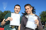 Michael Fogarty and Wayne Floody with there Leaving cert result..Picture Fran Caffrey www.newsfile.ie