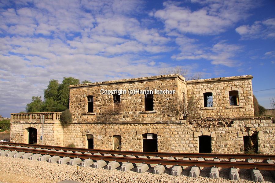 Israel, Shephelah, the historic Nahal Sorek train station