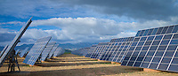 Solar panels in Northern Spain