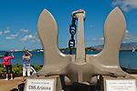 Anchor from the USS Battleship Arizona on display at Pearl Harbor, Oahu, Hawaii