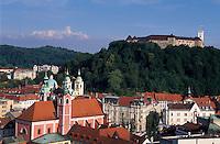 Slowenien. Lubljana, Stadt und Burg