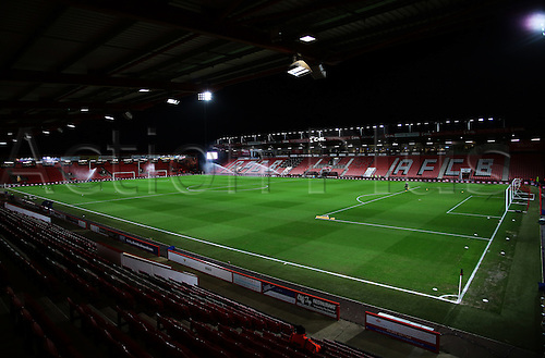 12.01.2016. Vitality Stadium, Bournemouth, England. Barclays Premier League. AFC Bournemouth versus West Ham.  The Vitality Stadium prepares for the match