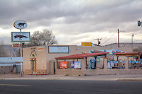The Black Cat Bar on Route 66 in Seligman Arizona.