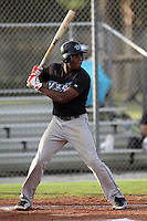 Malik Collymore, #12 of Port Credit SS High School, Ontario, Canada playing for the Ontario Blue Jays during the WWBA World Champsionship 2012 at the Roger Dean Complex on October 27, 2012 in Jupiter, Florida. (Stacy Jo Grant/Four Seam Images).
