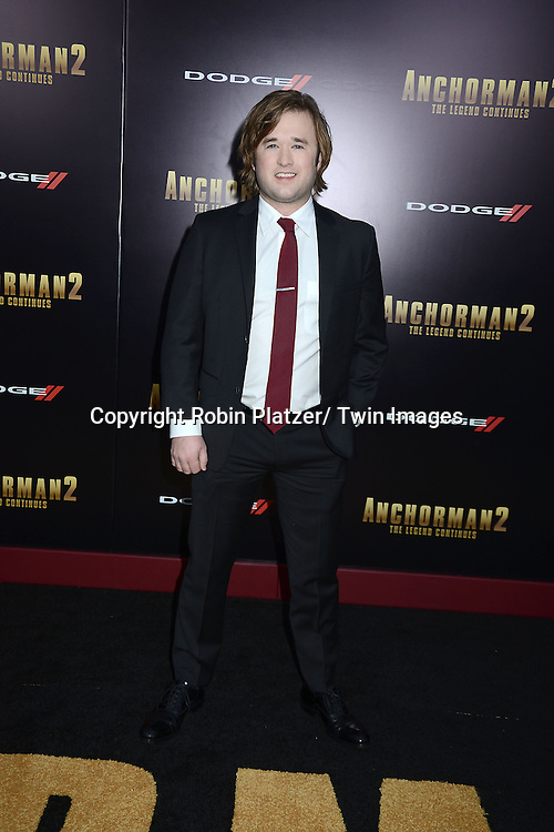 """Haley Joel Osment attends the U.S. Premiere of Paramount Pictures'   """"Anchorman 2: The Legend Continues""""  on  December 15, 2013 at the Beacon Theatre in New York City."""