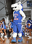 Texas-Arlington Mavericks mascot, Blaze, entertains the crowd during the game between the UTA Mavericks and the Sam Houston State Bearkats held at the University of Texas at Arlington's, Texas Hall, in Arlington, Texas. Sam Houston defeats UTA 78 to 74