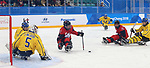 Pyeongchang, Korea, 10/3/2018- Ben Delaney of Canada plays Sweden in hockey during the 2018 Paralympic Games in PyeongChang. Photo Scott Grant/Canadian Paralympic Committee.