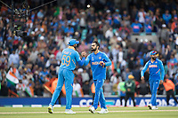 Virat Kolli (India) shakes with Vijay Shankar (India) at the conclusion of the match during India vs Australia, ICC World Cup Cricket at The Oval on 9th June 2019