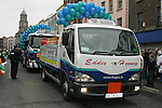 Flo Gas Float in the St Patricks Day Parade.Photo NEWSFILE/Fran Caffrey..(Photo credit should read Fran Caffrey/NEWSFILE)...This Picture has been sent you under the condtions enclosed by:.Newsfile Ltd..the Studio,.Millmount Abbey,.Drogheda,.Co Meath..Ireland..Tel: +353(0)41-9871240.Fax: +353(0)41-9871260.GSM: +353(0)86-2500958.email: pictures@newsfile.ie.www.newsfile.ie.FTP: 193.120.102.198..This picture is from Fran Caffrey@newsfile.ie