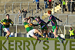 Darren O'Sullivan Kerry v Seamus Bolton Limerick Institute Technology in the Quarter Final of the McGrath Cup at Austin Stack Park, Tralee on Sunday 16th January.