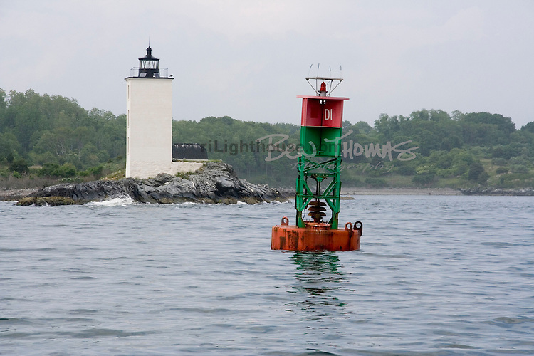 A new bell buoy now marks the dangers that Dutch Island Lighthouse once warned against.