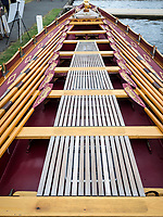 Henley Royal Regatta, Henley on Thames, Oxfordshire, 28 June - 2 July 2017.  Wednesday  11:58:59   28/06/2017  [Mandatory Credit/Intersport Images]<br /> <br /> Rowing, Henley Reach, Henley Royal Regatta.<br /> Details from The Royal Row Barge GLORIANA