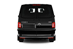 Straight rear view of a 2019 Volkswagen Caravelle Highline 4 Door Passenger Van stock images