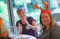 Pictured: Lottery winner Julie Amphlett 51 from Port Talbot. Wednesday 28 November 2018<br /> Re: National Lottery millionaires from south Wales and the south west of England have hosted a glitzy Rat Pack-inspired Christmas party for an older people's music group at The Bear Hotel in Cowbridge, Wales, UK.
