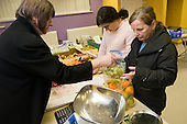Food co-op at Healthy Futures drop-in session at Queens Park Court Community Hall, West London