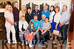 John Downey (Seated centre) from Knockalougha , Duagh, celebrated his 50th. Birthday last Saturday night in Matt McCoy's Bar Abbeyfeale pictured with his family.<br /> Back: Kay Fitzgerald, Graham &amp; Marion Meade, Joanne Downey, Brendan Downey, O.J. Downey, Bridget Downey, Helen Downey &amp; Denis Murphy.<br /> Seated : His parents Marie &amp; Denis &amp; nieces Shannon Fitzgerald &amp; Cassie Davis.