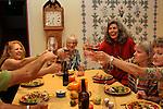 Robert Jacobi toasting with wine