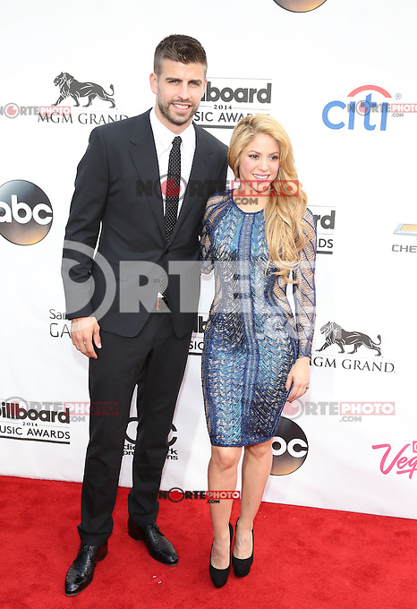 LAS VEGAS, NV - May 18 : gerard Piqué and Shakira pictured at 2014 Billboard Music Awards at MGM Grand in Las Vegas, NV on May 18, 2014. © Kabik/ Starlitepics
