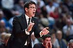 El entrenador del equipo vasco FOTIOS KATSIKARIS. REAL MADRID - VIZKAIA BILBAO BASKET. Euroleague 2012. 01 Febrero. Palacio de los Deportes...© ALFAQUI FOTOGRAFIA