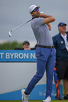 Cameron Tringale (USA) watches his tee shot on 3 during round 3 of the AT&T Byron Nelson, Trinity Forest Golf Club, Dallas, Texas, USA. 5/11/2019.<br /> Picture: Golffile | Ken Murray<br /> <br /> <br /> All photo usage must carry mandatory copyright credit (© Golffile | Ken Murray)