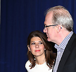 Marissa Tomei and Tracy Letts attending 'The Realistic Joneses'  Meet & Greet  at The New 42nd Street Studios on February 20, 2014 in New York City.