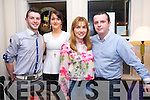 Gerard Ahern,Katelyn Hennessy,Claire O'Grady and Conor Ahern  enjoying a Valentine's Day meal at Stone House on Friday