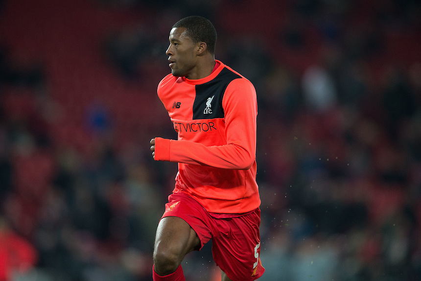 Liverpool's Georginio Wijnaldum<br /> <br /> Photographer Terry Donnelly/CameraSport<br /> <br /> The EFL Cup Quarter-Final  - Liverpool v Leeds  - Tuesday 29th November 2016 - Anfield - Liverpool<br />  <br /> World Copyright &copy; 2016 CameraSport. All rights reserved. 43 Linden Ave. Countesthorpe. Leicester. England. LE8 5PG - Tel: +44 (0) 116 277 4147 - admin@camerasport.com - www.camerasport.com