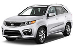 Front three quarter view of a 2013 KIA Sorento SX