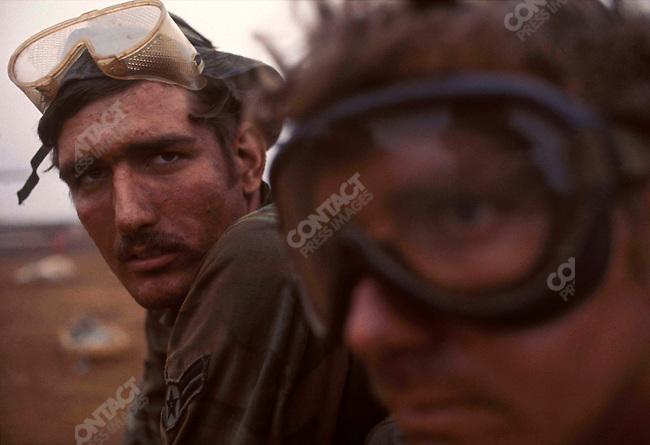 Truck drivers with the U.S. armed forces, Khe Sanh, South Vietnam, February 1971