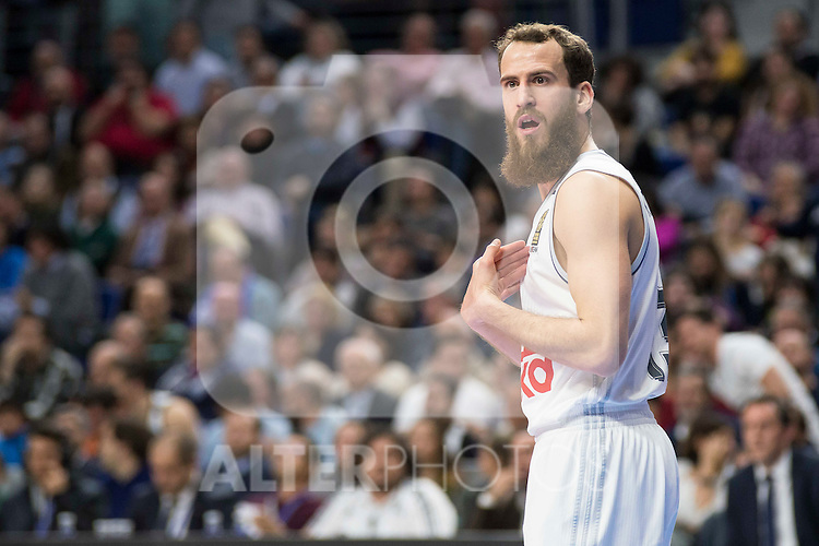 Real Madrid's player Sergio Rodriguez during the match between Real Madrid and CSKA Moscu of Turkish Airlines Euroleague at Barclaycard Center in Madrid, March 02, 2016. (ALTERPHOTOS/BorjaB.Hojas) during the match between Real Madrid and CSKA Moscu of Turkish Airlines Euroleague at Barclaycard Center in Madrid, March 02, 2016. (ALTERPHOTOS/BorjaB.Hojas)
