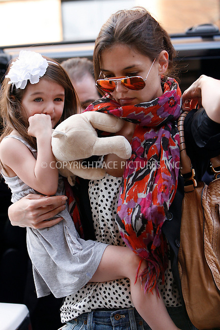 WWW.ACEPIXS.COM . . . . .  ....April 4 2010, New York City....Actress Katie Holmes out in Manhattan with her daughter Suri Cruise on April 4 2010 in New York City....Please byline: NANCY RIVERA- ACEPIXS.COM.... *** ***..Ace Pictures, Inc:  ..Tel: 646 769 0430..e-mail: info@acepixs.com..web: http://www.acepixs.com