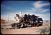 3/4 view of D&amp;RGW #318 in San Luis Valley.<br /> D&amp;RGW  San Luis Valley, CO