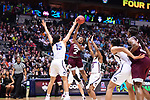 DALLAS, TX - MARCH 31:  Morgan William #2 of the Mississippi State Lady Bulldogs passes during the 2017 Women's Final Four at American Airlines Center on March 31, 2017 in Dallas, Texas. (Photo by Justin Tafoya/NCAA Photos via Getty Images)