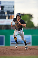West Virginia Black Bears center fielder Daniel Amaral (27) runs the bases during a game against the Batavia Muckdogs on June 19, 2018 at Dwyer Stadium in Batavia, New York.  West Virginia defeated Batavia 7-6.  (Mike Janes/Four Seam Images)