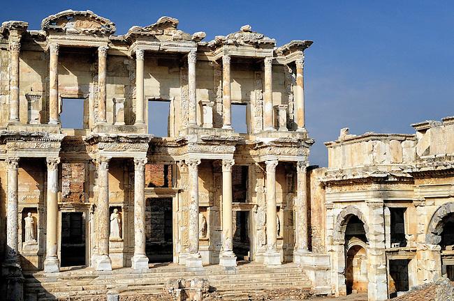 Library of Celsus in Ephesus near Kusadasi, Turkey