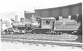 Side view of C-19 #344 at Gunnison roundhouse.<br /> D&amp;RGW  Gunnison, CO  6/1939