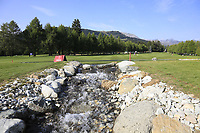 The 10th hole during Thursday's Round 1 of the 2017 Omega European Masters held at Golf Club Crans-Sur-Sierre, Crans Montana, Switzerland. 7th September 2017.<br /> Picture: Eoin Clarke | Golffile<br /> <br /> <br /> All photos usage must carry mandatory copyright credit (&copy; Golffile | Eoin Clarke)